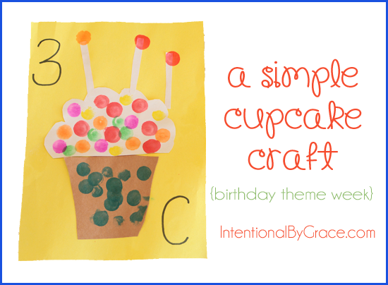 a simple cupcake craft for preschoolers