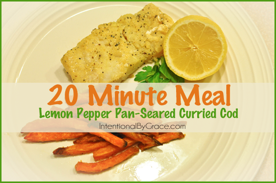 Looking for an easy weeknight meal? Check out this lemon pepper pan seared cod. It only takes 20 minutes!