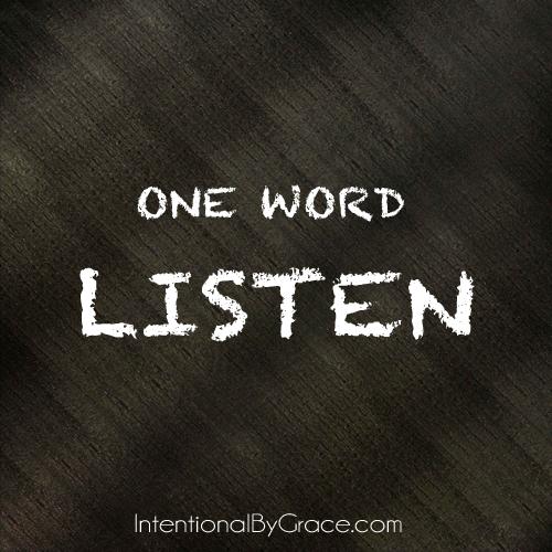 one word listen