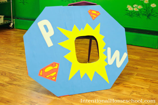 superhero bean bag toss
