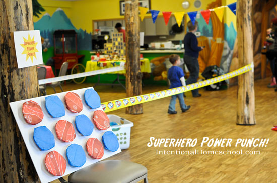 superhero power punch