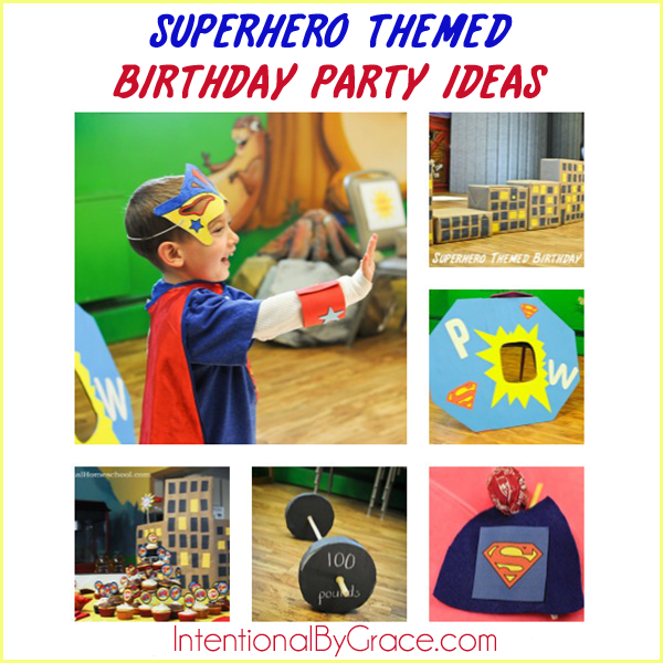A lot of great ideas for a superhero themed birthday party! Love this birthday party idea for my little boy.
