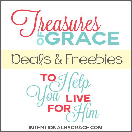 Are you looking for deals and freebies to help you in your Christian walk? Check out Treasures for Grace! A new feature of IntentioanlByGrace.com to find free and cheap resources to help you live for Him!