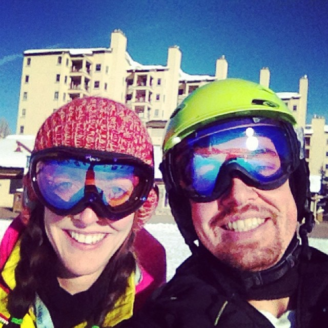 ski date with my hubby to check off one of my monthly goals
