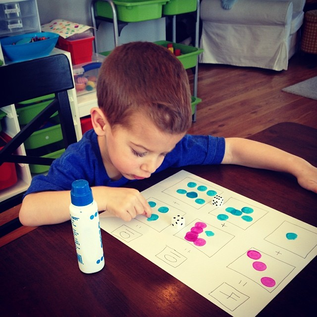 counting with do a dots and dice