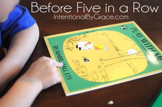before five in a row book: play with me with activities #b4fiar