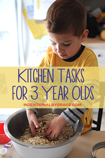 kitchen tasks for 3 year olds
