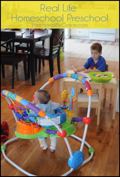real life homeschool preschool