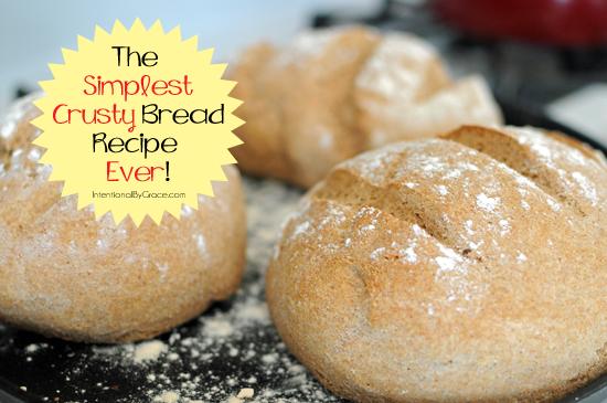 the simplest crusty bread recipe ever
