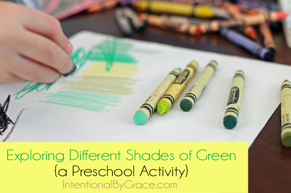 exploring different shades of green