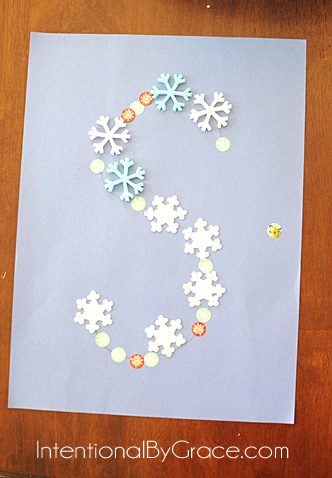 letter s snowflake craft