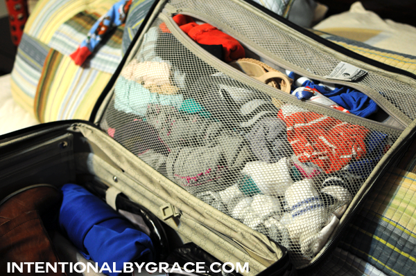 packing your loose articles of clothing