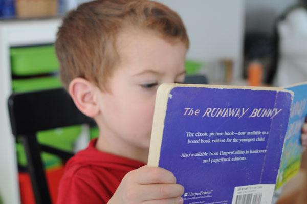 reading runaway bunny