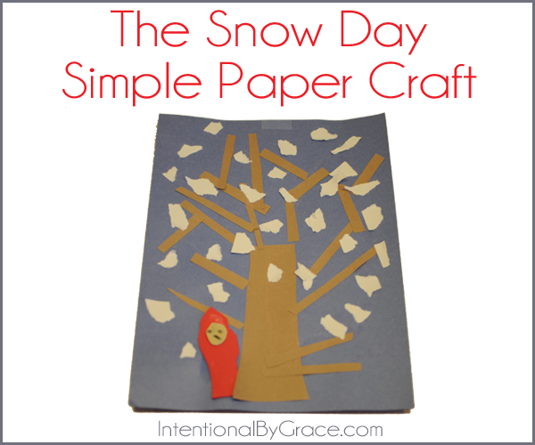 the snowy day paper craft