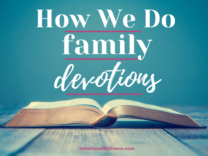 How to do family devotions with a preschooler and toddler.
