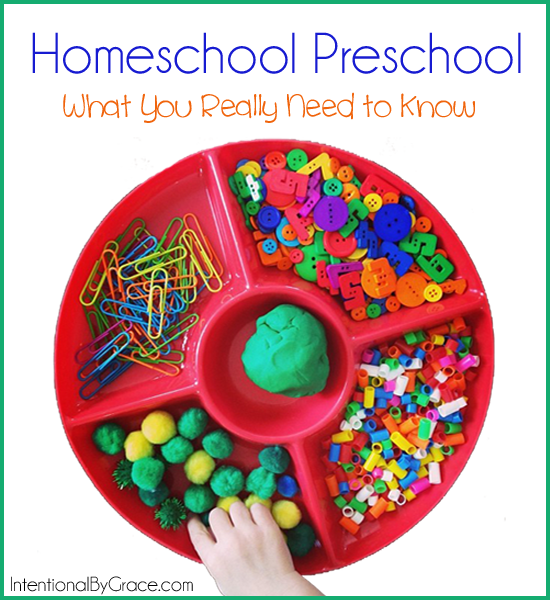 homeschool preschool - what you really need to know