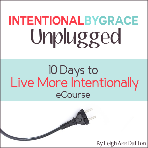 Get Intentional By Grace Unplugged eCourse free when you purchase the Ultimate Homemaking Bundle!