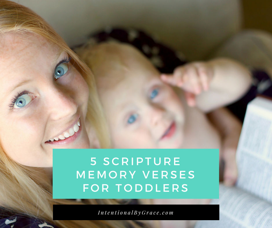 WonderingAre you wondering which scriptures your toddler can memorize? Here are 5 Scripture Memory Vereses for Toddlers!