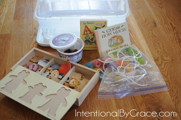 busy box idea for toddlers 2