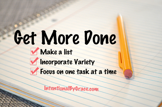 My top 3 tips for getting more done!
