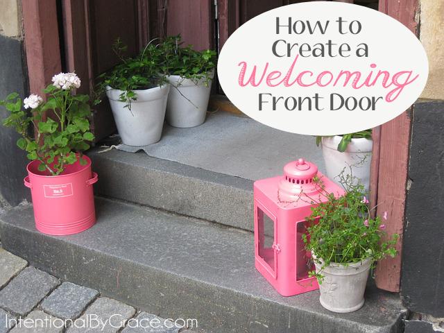 how to create a welcoming front door.