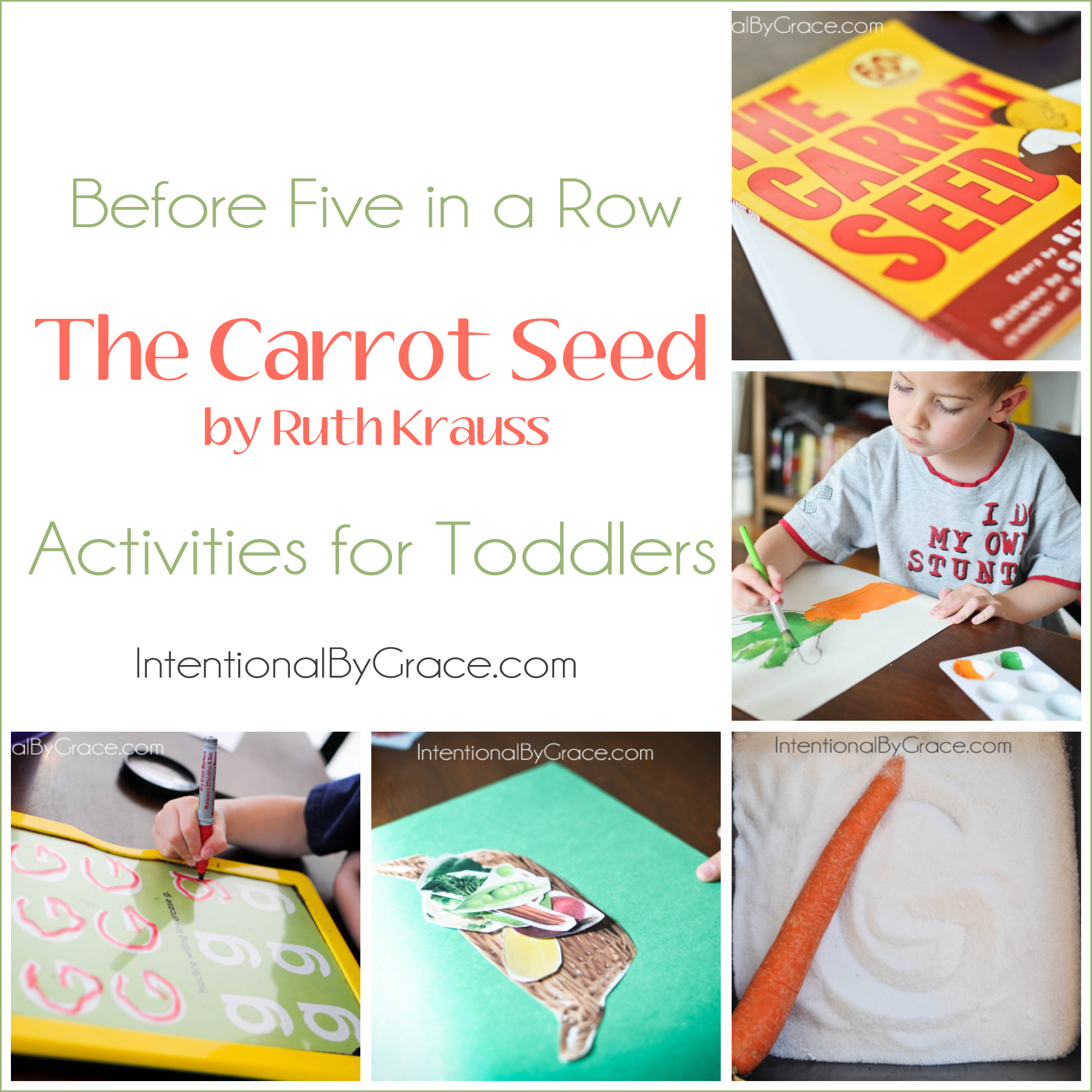 The Carrot Seed | Before Five in a Row Activities for Toddlers