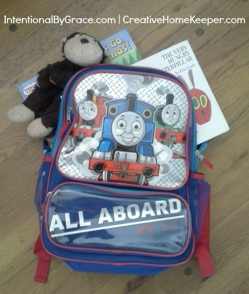 Activity Bags for children when traveling | IntentionalByGrace.com
