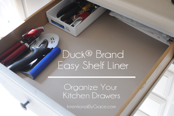 Duck Brand Shelf Liner To Organize My