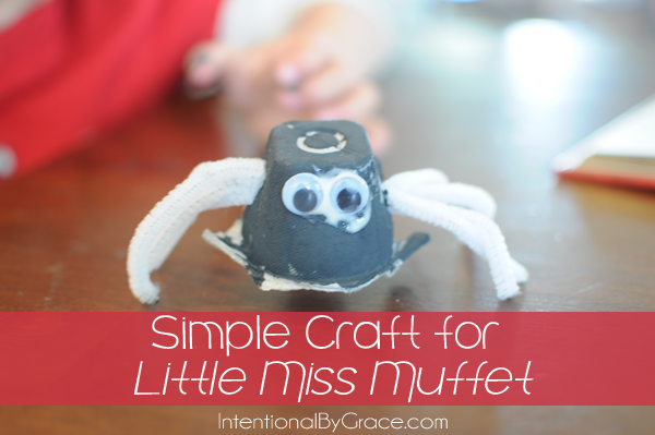 Simple Craft for Little Miss Muffet | IntentionalByGrace.com