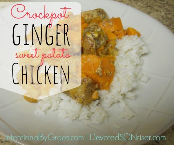 Crockpot Ginger Sweet Potato Chicken | IntentionalByGrace.com