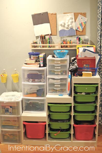 homeschool preschool organized