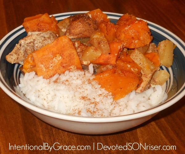 Crockpot Ginger-Sweet Potato Chicken | IntentionalByGrace.com