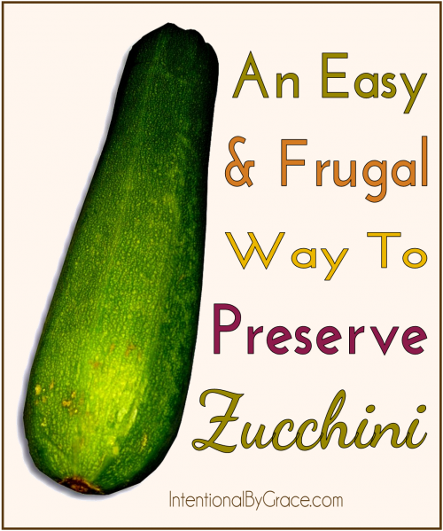 An Easy and Frugal Way to Preserve Zucchini - Intentional By Grace