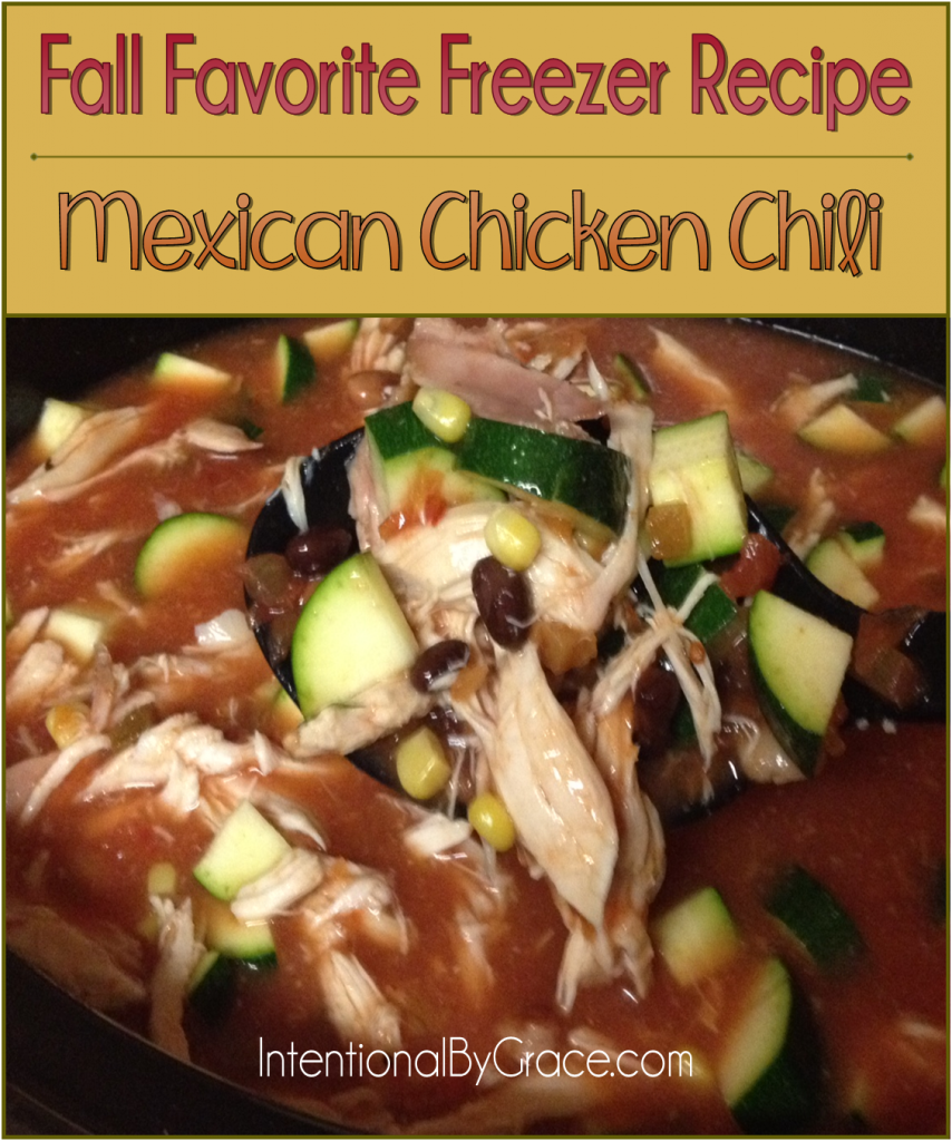 Fall Favorite Freezer Recipe Mexican Chicken Chili - Intentional By Grace