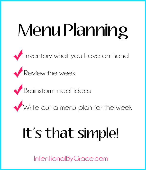 How to Make Menu Plan