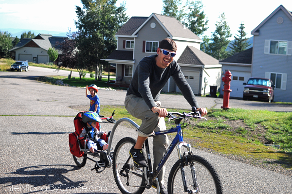 bike riding with daddy