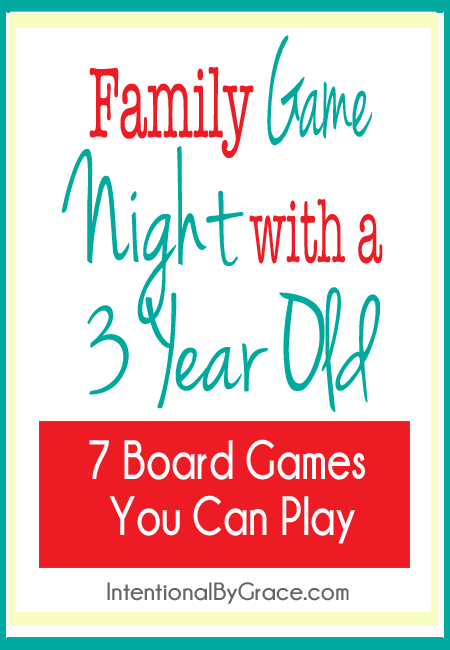 Want to do family game night with a three year old? Here are 7 board games you can play together.