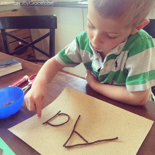 letters with sand paper