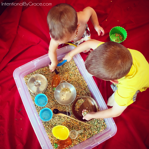 sensory bin together