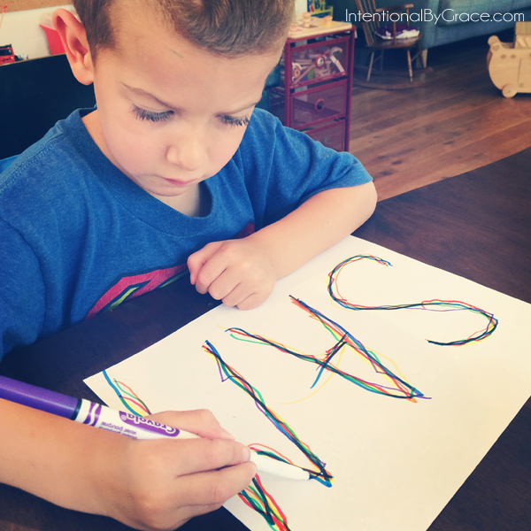 writing name in rainbow colors