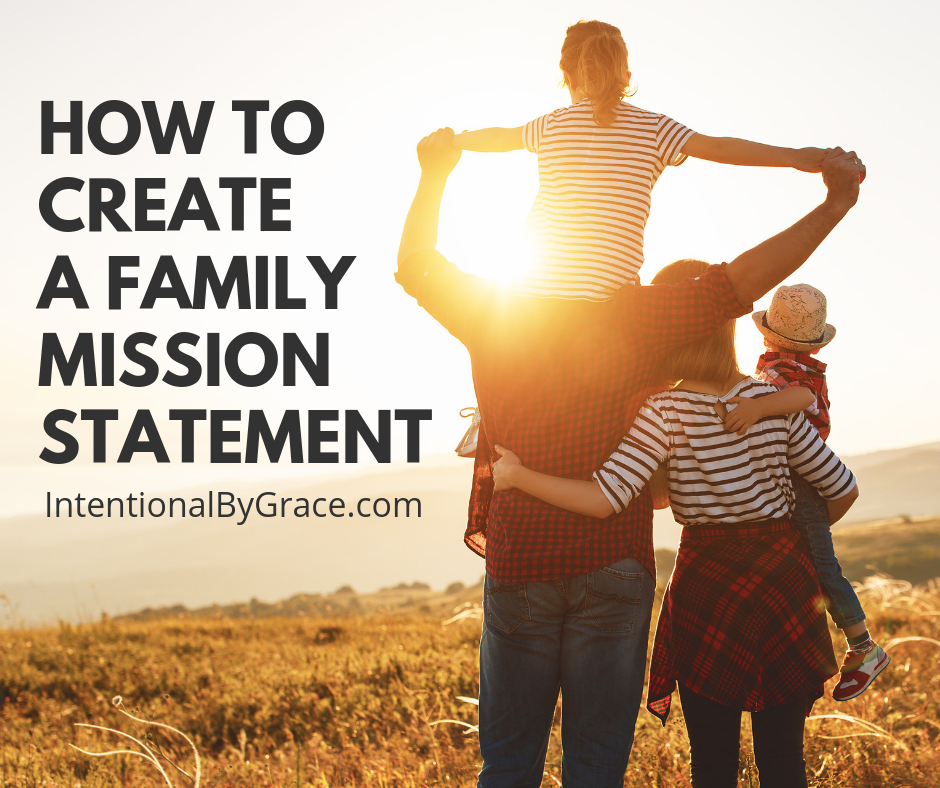 How to make a family mission statement