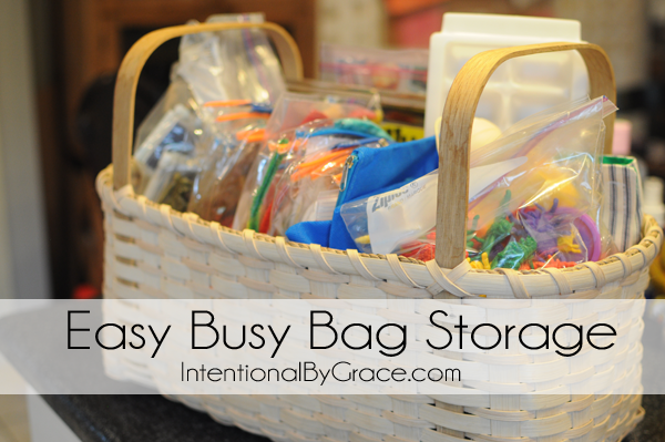 easy busy bag storage
