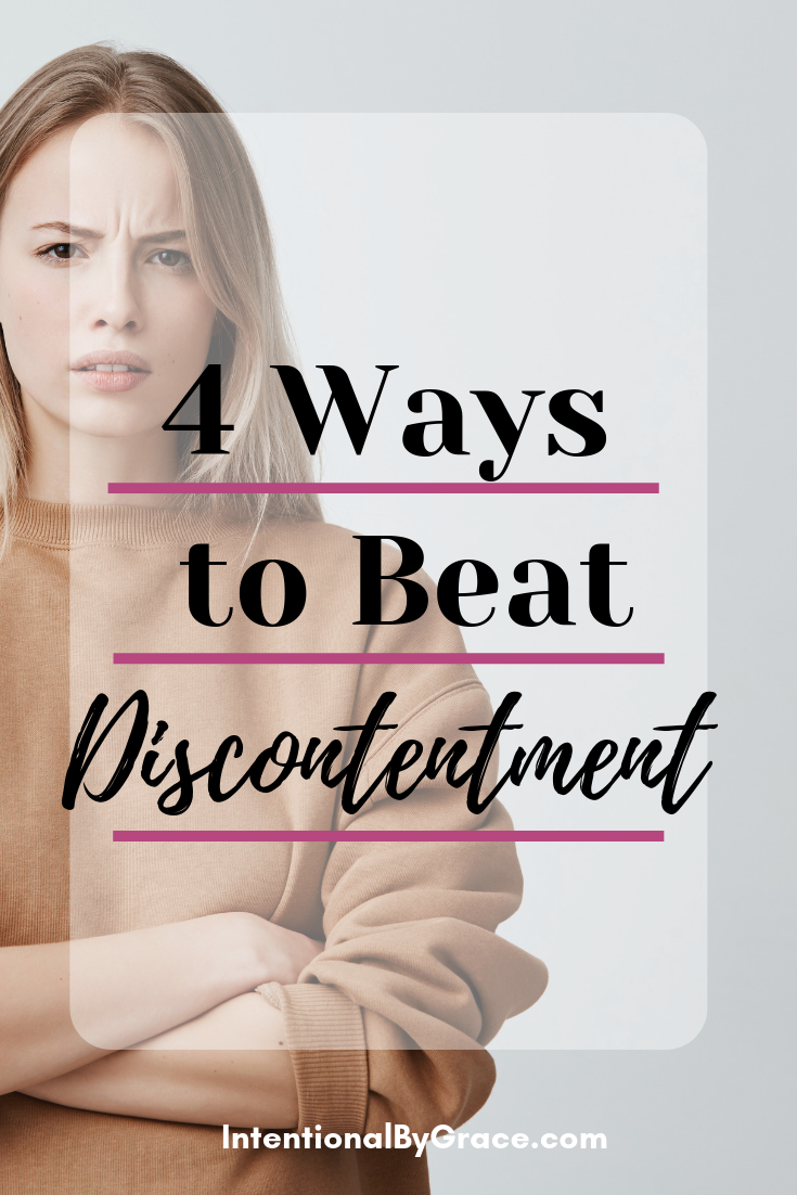 Sometimes we can get bogged down by life and focus on what we don't have. Is it possible to overcome discontentment when we see all that's broken around us? Check out this post from guest writer Jane.  - IntentionalByGrace.com