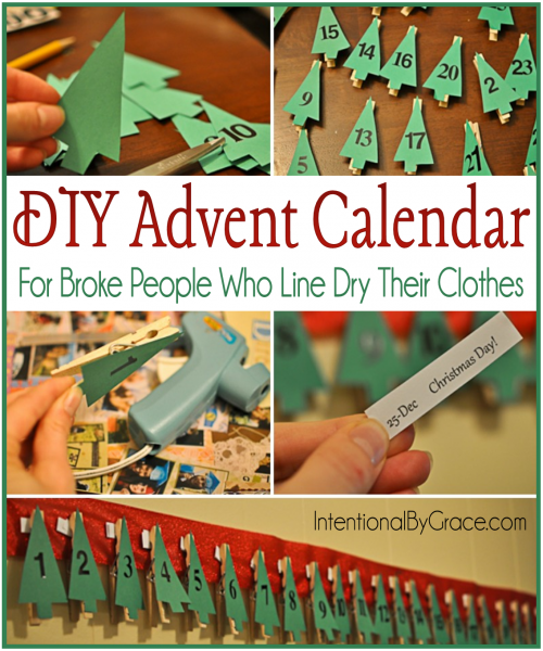 DIY Advent Calendar - Intentional By Grace