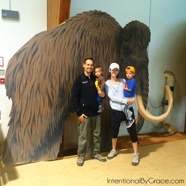 family at wooly mammoth site