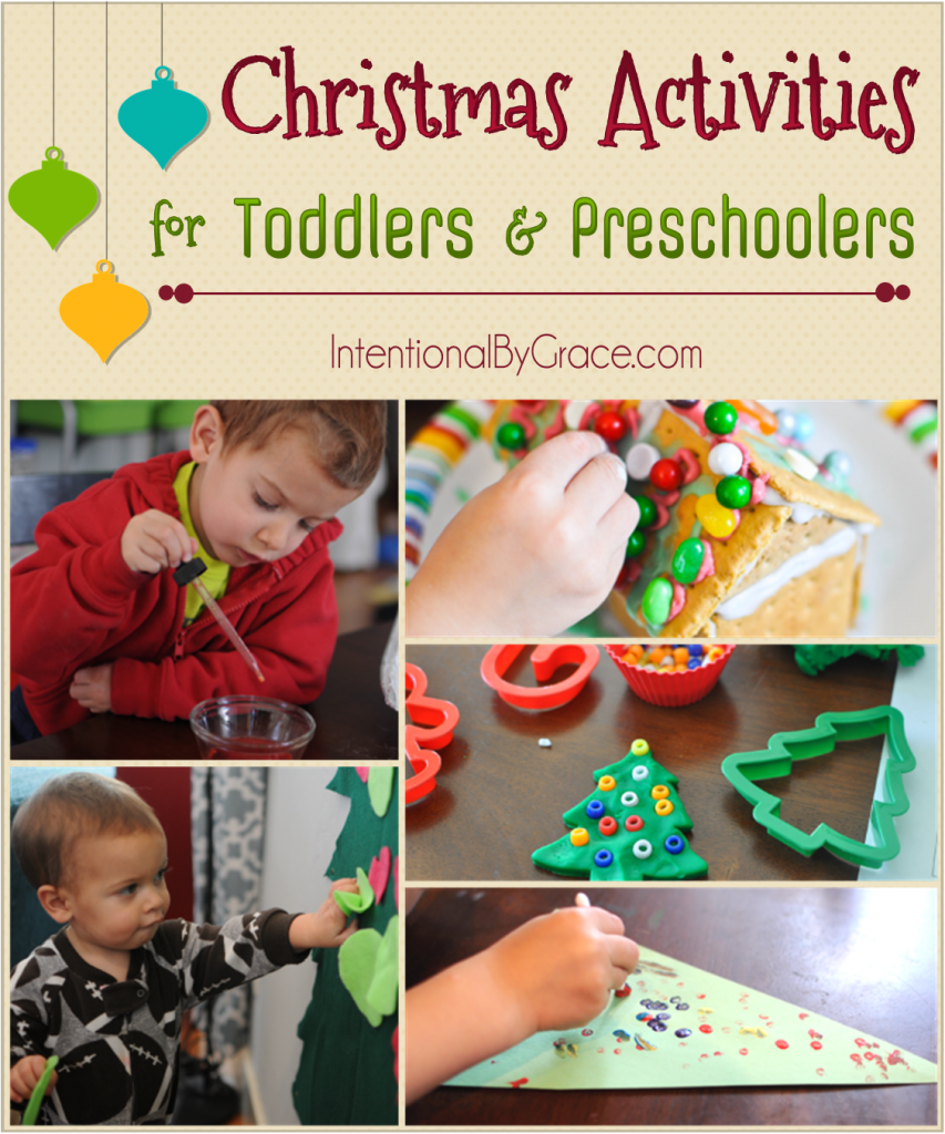 Christmas Activities for Toddlers and Preschoolers - Intentional By Grace