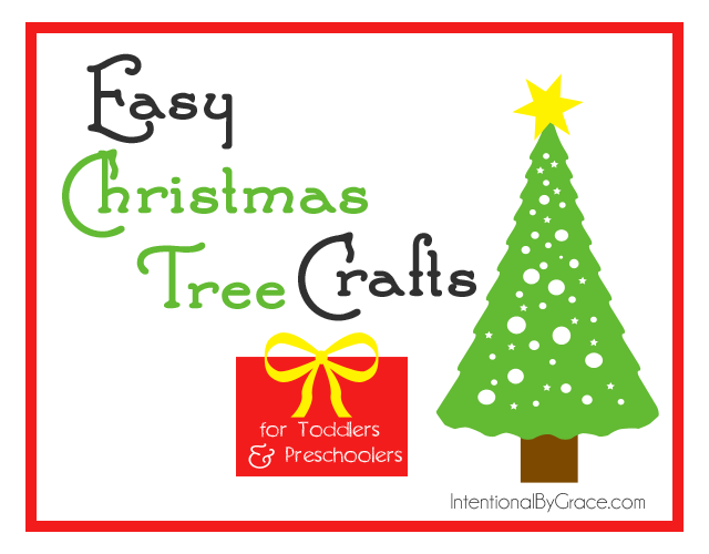 Love these easy Christmas tree crafts for my toddler and preschooler! | IntentionalByGrace.com