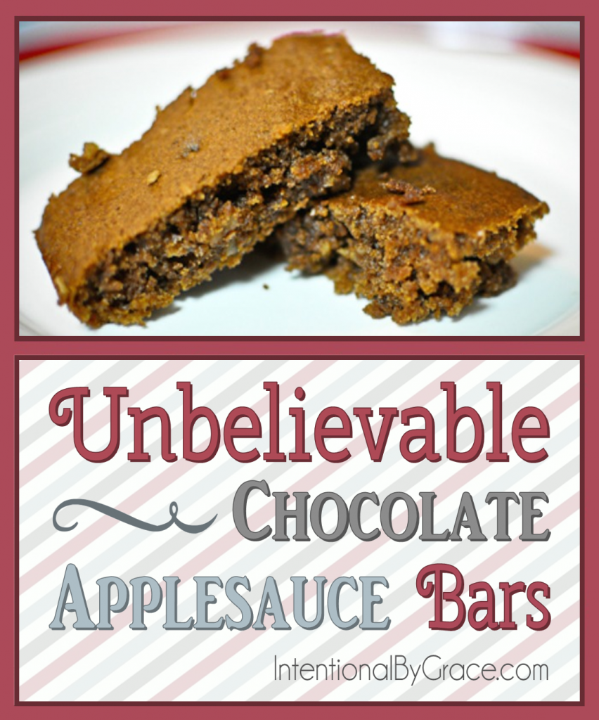 Unbelievable Chocolate Applesauce Bars - Intentional By Grace