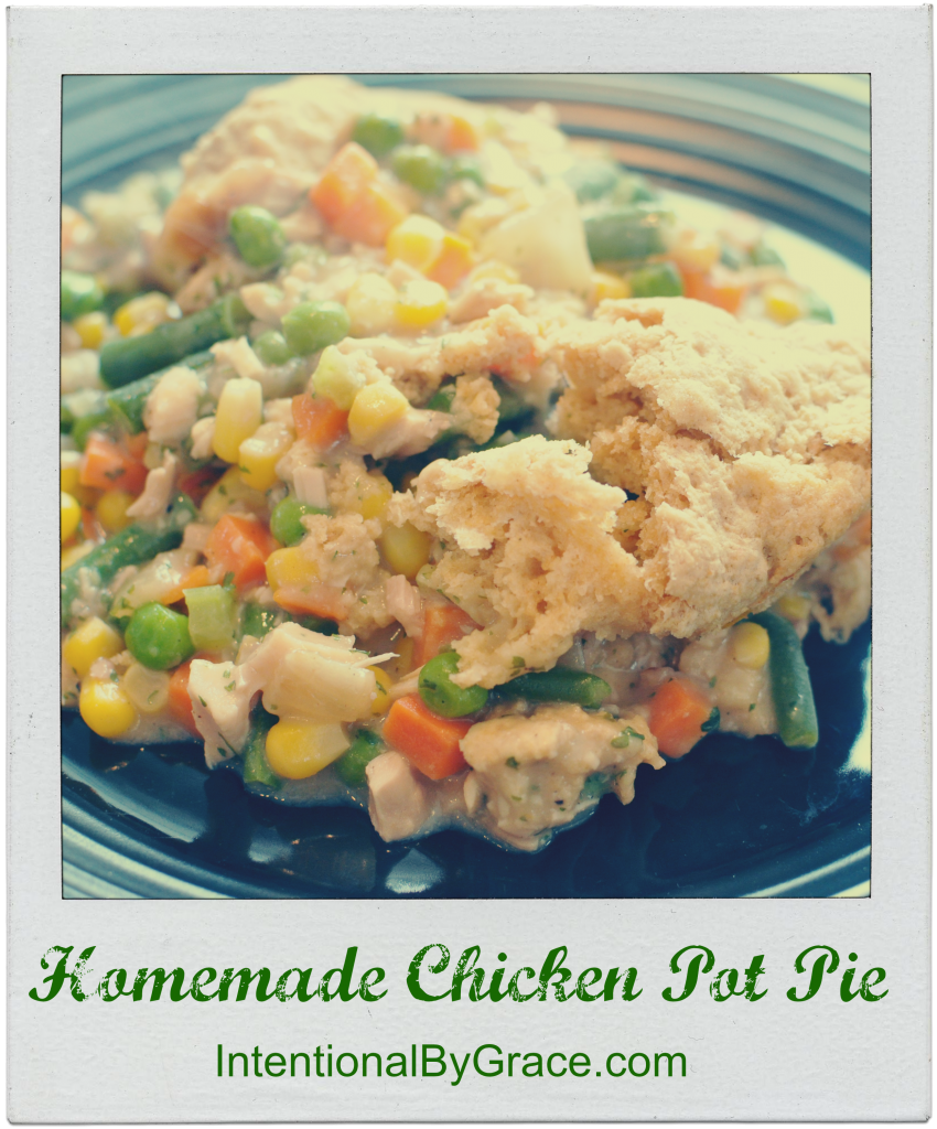 Easy Homemade Chicken Pot Pie Recipe. Yum! The ultimate comfort food recipe!