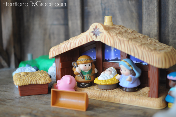 nativity set to play with